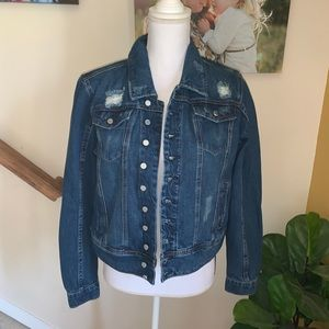 BlankNYC distressed denim jean jacket size M NWT